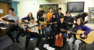 Teenagers from Dublin's inner city and Blackrock College at the Swan Youth Services music group