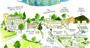 Get your bearings with this map of Ballymaloe and the various venues for Litfest events. Illustration: Lydia Hugh Jones