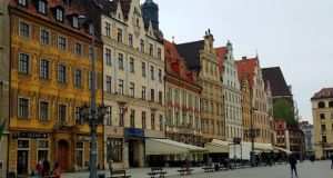 The picturesque medieval market square in Wroclaw. Photograph: Éanna Ó Caollaí/The Irish Times