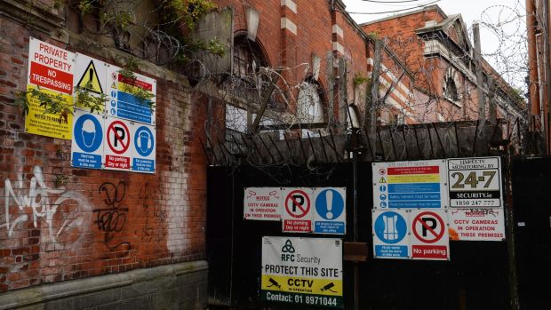 State of derelicition: Iveagh Markets site in Dublin. Photograph: Cyril Byrne