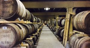 Glen Garioch oak whiskey barrels