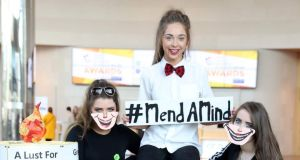 Students from Largy College, Clones, Co Monaghan were named Young Social Innovators of the Year 2017 for their project, 'Mend a Mind – It's a Disorder Not a Decision'. The project aims to raise awareness about mental health, in their school and community. Photograph: Jason Clarke
