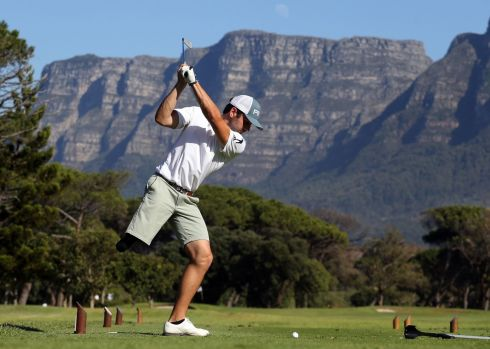SWING HARD: Juan Postigo in action at the Canon South African Disabled Golf Open at the Mowbray King David Golf Club in Cape Town, South Africa.  Photograph: Getty Images