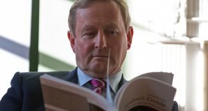 Taoiseach Enda Kenny at the launch in the Irish Architectural Archive. Photograph: Dave Meehan