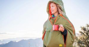 Alite Sexy Hotness Wearable Sleeping Bag has side-zips for your arms so you can enjoy a cuppa