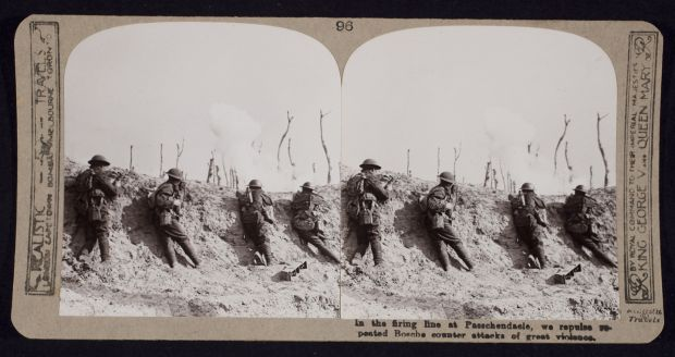 In the firing line at Passchendaele. Photograph: Getty Images
