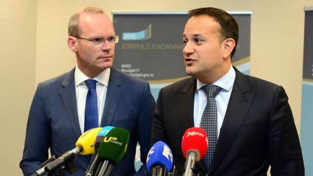 Simon Coveney and Leo Varadkar are the only declared candidates deemed certain of getting the required eight nominations required for a tilt at the leadership. Photograph: Dara Mac Dónaill