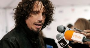 US rock musician Chris Cornell died Wednesday night in Detroit at age 52. File photograph: Chris Pizzello/AP