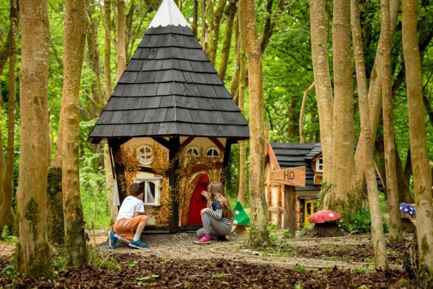 The Elf-village, part of the free-of-charge Timber Tumbles playground at the Discovery Park in Castlecomer, Co Kilkenny