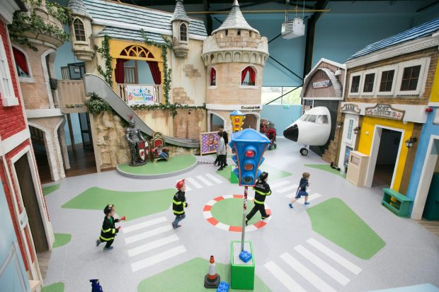 Dreamland in Limerick, Ireland's first all-inclusive play center for children to play together regardless of their ability or disability. I'ts free of charge for children with special needs registered with Share a Dream charity. Photograph: Brian Gavan/Press22