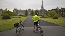 The start: Park at St Patrick's College Maynooth, Co Kildare.
