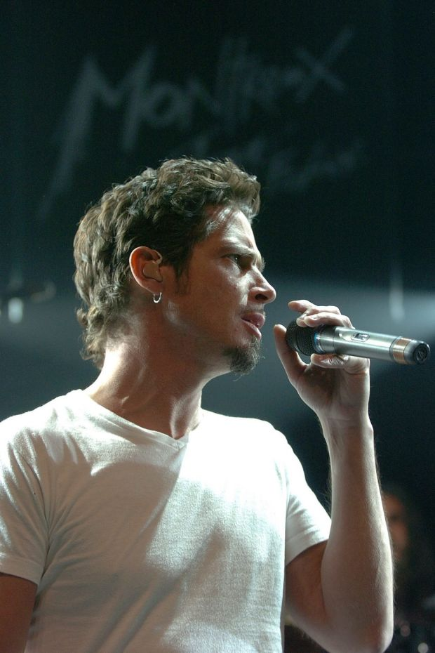 Chris Cornell onstage with Audioslave in 2005. Photograph: EPA/Sandro Campardo