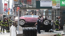 Aftermath as car hits pedestrians in New York's Times Square