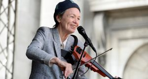 Laurie Anderson at the National Concert Hall.  Photograph: Cyril Byrne