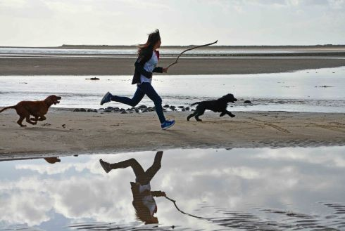 BEACH GIRL: Jodie Hayes on Rossnowlagh Beach Co Donegal. Photograph: Emer O'Shea