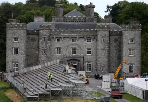 GUNS N' ROSES: Slane Castle prepares for the sold-out concert on Saturday May, 27th. Photograph: Colin Keegan