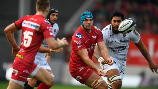 Tadhg Beirne in action for Scarlets against RC Toulonnais: player has made 22 appearances this season for Scarlets. Photograph: Stu Forster/Getty Images