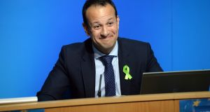 Minister for Social Protection Leo Varadkar: ends day one with support of 31 members of the parliamentary party to Simon Coveney's 17, with 26 undecided or undeclared.  Photograph: Dara Mac Dónaill