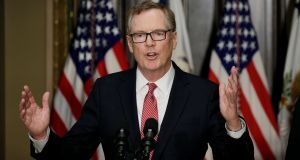 US trade representative Robert Lighthizer: hopes to complete negotiations by the end of 2017. Photograph: Reuters