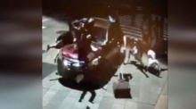 CCTV security footage captures moment of Times Square crash