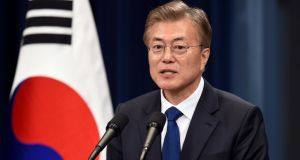South Korea's new president Moon Jae-in: by engaging with all of the actors in the crisis, he is well positioned to bring all the pieces into place. Photograph: Jung Yeon-Je/Reuters