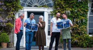 Festival directors Rory O'Connell and Darina Allen planning their Litfest 2017 weekend with  guest chefs Jacob Kenedy from Bocca Di Lupo in Soho, and    Richard Falk and Robin Gill of The Dairy in Clapham. Photograph: Joleen Cronin