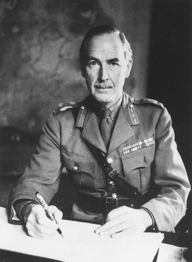 General Sir Alan Cunningham, Palestine High Commissioner: the Dubliner was in charge during the mass expulsion of Palestinians by Zionist forces, an episode called the Nakba or catastrophe. The British authorities chose not to intervene. Photograph: Getty Images