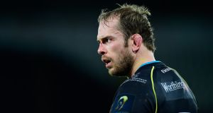 Alun Wyn Jones is back in the Ospreys team for trip to Thomond Park. Photograph: Getty Images