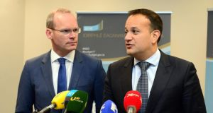 Simon Coveney and Leo Varadkar. File photograph: Dara Mac Donaill / The Irish Times