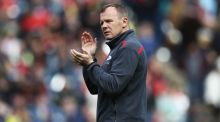 Mark McCall's Saracens are in pursuit of a third English Premiership in a row. Photograph: Getty Images
