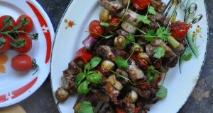 Lamb Skewers with Tzatziki Salad