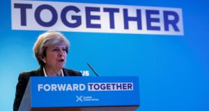 "British prime minister Theresa May. ""Until now, May kept the door to the customs union slightly ajar. The manifesto slammed it shut."" Photograph: Russell Cheyne/Reuters"