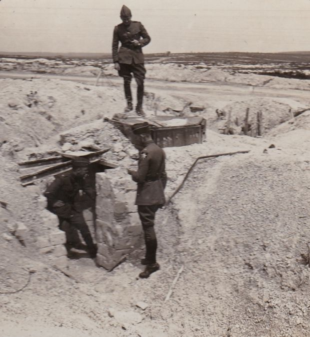 US troops examine a pillbox