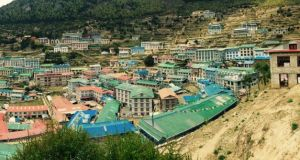 Namche Bazaar is the largest village in the Khumbu. It is traditionally a trading post, hence the second part of the name.