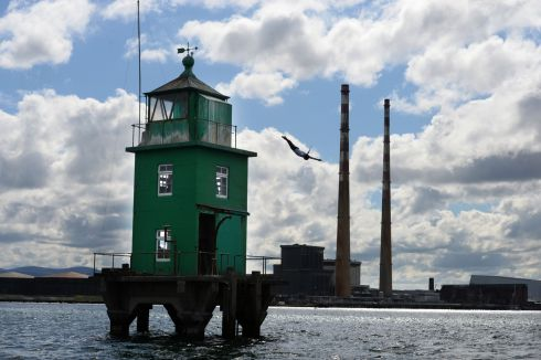 WORLD SERIES: Cliff diver Orlando Duque takes the plunge from North Bank Lighthouse, Dublin Bay, to celebrate the return of the Red Bull Cliff Diving World Series to Ireland next month. Photograph: Dara Mac Dónaill/The Irish Times