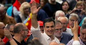 Pedro Sánchez: recast himself as the standard-bearer of the Spanish Socialist Workers' Party's left wing. Photograph: Quique Garcia/EPA
