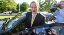 Taoiseach Enda Kenny: entitled a pension of about €126,000 a year, plus a lump sum on retirement of €378,000, the Dáil was told. Photograph: Cyril Byrne