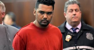 Richard Rojas appears during his arraignment in Manhattan Criminal Court, in New York, US. File photograph: R Umar Abbasi/New York Post via A