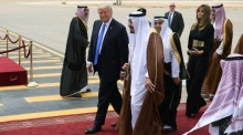 Red carpet rolled out for Trump as he arrives in Riyadh