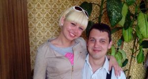 Rita Apine and her partner Renars Veigulis (31) who was charged with her murder on Sunday