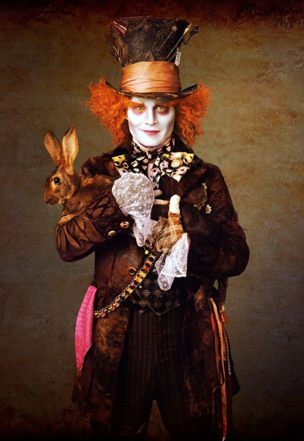 Johnny Depp as the Mad Hatter in Tim Burton's 'Alice in Wonderland'