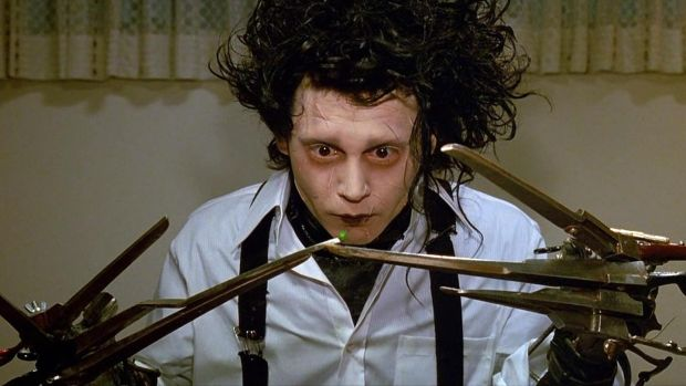 Johnny Depp in Tim Burton's 'Edward Scissorhands'