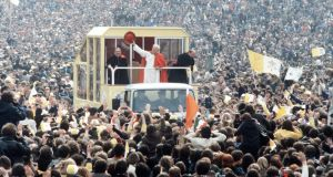Pope John Paul II's visit in 1979: the final hope in a last-ditch stand against an inexorable secularist tide? Photograph: Anwar Hussein/WireImage
