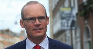 Fine Gael Leadership candidate Simon Coveney  at the launch of his policy document in the Dean Hotel in Dublin. The document draws on Fine Gael's 'just society' tradition. Photograph: Gareth Chaney Collins