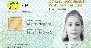 Sample Public Services Card: Minister for Public Expenditure and Reform Paschal Donohoe confirmed that all passport applicants will be required to have the document   from the autumn