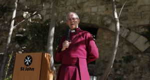 Archbishop of Canterbury Justin Welby in the Christian quarter of Jerusalem's Old City. Over 10 and 20 years the Church of England's fund  returned 8.3 per cent and 9.5 per cent per annum  respectively. Photograph: Gali Tibbon/AFP/Getty Images