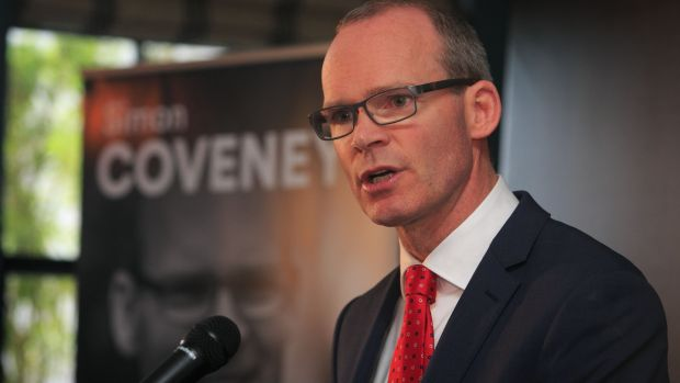 Fine Gael Leadership candidate Simon Coveney TD at the launch of his policy document on Sunday. Photograph: Collins