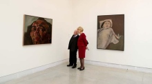 Higgins is first sitting Irish President to visit Venice Biennale