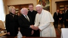 President Higgins meets Pope Francis in the Vatican