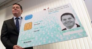 Minister for Public Expenditure and Reform Paschal Donohoe said it would  be compulsory for all passport applicants to hold a public services card. Photograph: Eric Luke